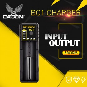 Xtar BC1 Portable Micro USB Battery Charger 1 Slot for Li-ion - Black - 8