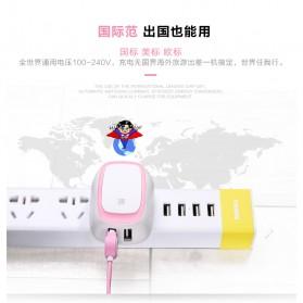 Remax Dual USB Charger Fast Charging 2.4A EU Plug - RP-U23 - Pink - 4