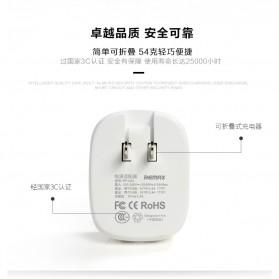 Remax Dual USB Charger Fast Charging 2.4A EU Plug - RP-U23 - Pink - 6