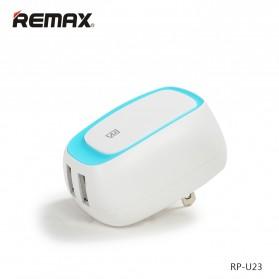 Remax Dual USB Charger Fast Charging 2.4A EU Plug - RP-U23 - Blue