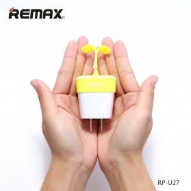 Remax Sapling Series USB Charger Fast Charging 2 Port 2.4A EU Plug - RP-U27 - Green - 2