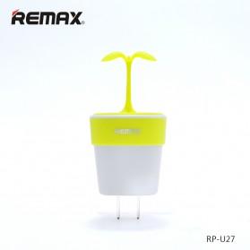 Remax Sapling Series USB Charger Fast Charging 2 Port 2.4A EU Plug - RP-U27 - Green - 3