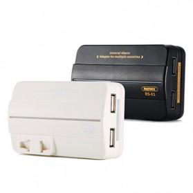 Remax Travel Adaptor with 2 USB Port - RS-X1 - Black - 2