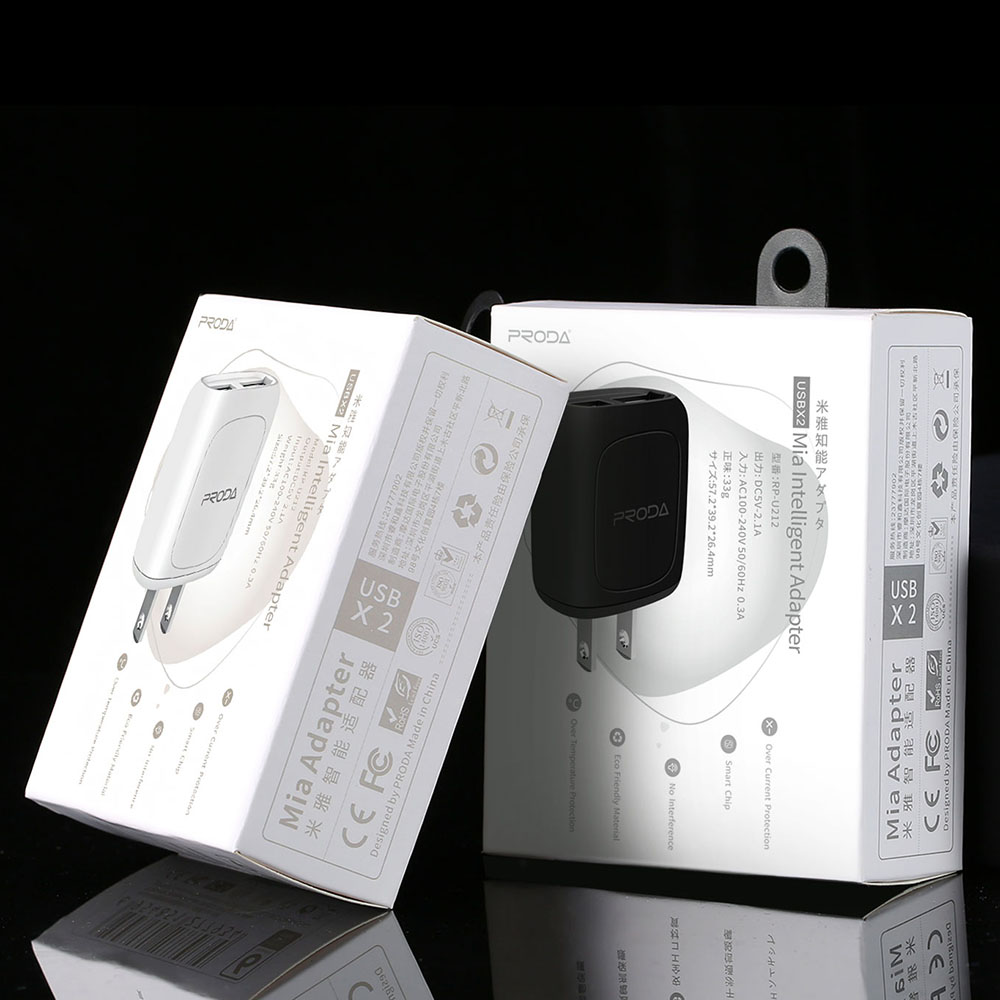 Remax Proda Intelligent Usb Charger 2 Port Rp U212 Black Cable 5