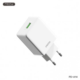 REMAX Proda Starspeed Series Charger USB QC3.0 EU Plug - PD-A14 - White