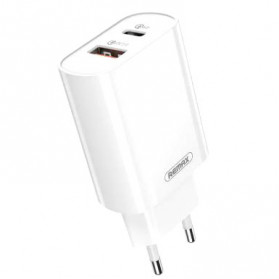 Remax Jane Series Charger USB Type C QC+PD Fast Charging 2 Port with Type C to Lightning Cable - RP-U37 - White