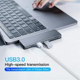 Baseus Harmonica 5 in 1 HUB Type C  Adapter - CAHUB-K0G - Gray - 8