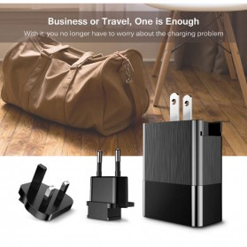 Baseus Travel Charger USB Fast Charging 3 Port 3.4A - CCALL-GJ01 - Black - 2