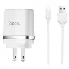 Hoco C11A USB Charger 1 Port 1A dengan Kabel Micro USB - White