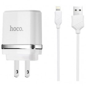 Hoco C11A USB Charger 1 Port 1A dengan Kabel Lightning - White