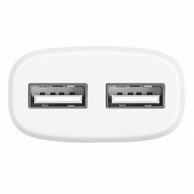Hoco C12A USB Charger 2 Port 2.4A dengan Kabel Lightning - White - 3