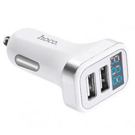 HOCO Z3 Charger Mobil 2 Port 3.1A Fast Charging - Z3-2U - White - 5