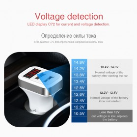 HOCO Z3 Charger Mobil 2 Port 3.1A Fast Charging - Z3-2U - White - 9