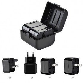 HOCO Universal Travel Socket Charger Power Adapter -  AC1 - Black