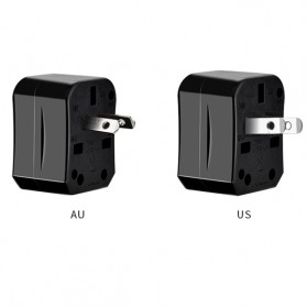 HOCO Universal Travel Socket Charger Power Adapter -  AC1 - Black - 2