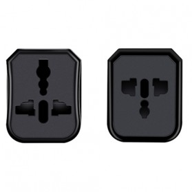 HOCO Universal Travel Socket Charger Power Adapter -  AC1 - Black - 5