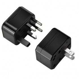 HOCO Universal Travel Socket Charger Power Adapter -  AC1 - Black - 7