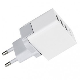 Hoco Fast USB Charger Adaptor 3 Port 2.4A - C20 - White