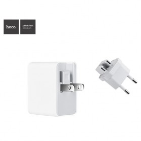 Hoco Fast USB Charger Adaptor 3 Port 2.4A - C20 - White - 2
