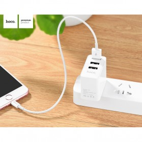 Hoco Fast USB Charger Adaptor 3 Port 2.4A - C20 - White - 3