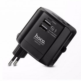 Hoco Dual USB Universal Travel Charger Power Adapter 2.4A - AC3 - Black