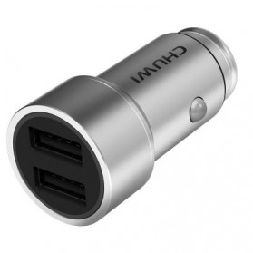 Chuwi Ublue 2 Port Car Charger 2.4A - C-100 - Silver - 2