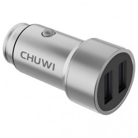 Chuwi Ublue 2 Port Car Charger 2.4A - C-100 - Silver - 4