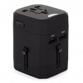 Loop Universal Adapter 4 in 1 US UK EU AU Plug with USB Port - GN-U303U - Black - 2