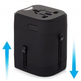 Loop Universal Adapter 4 in 1 US UK EU AU Plug with USB Port - GN-U303U - Black - 5