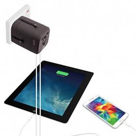 Loop Universal Adapter 4 in 1 US UK EU AU Plug with USB Port - GN-U303U - Black - 7