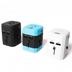Loop Universal Adapter 4 in 1 US UK EU AU Plug with USB Port - GN-U303U - Black - 8