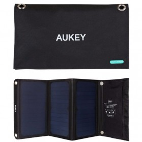 Aukey Portable Solar Charger 3 Panel 21W 2 Port - PB-P4 - Black
