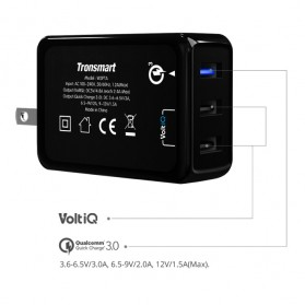 Tronsmart USB Charger 3 Port QC 3.0 - W3PTA - Black - 5