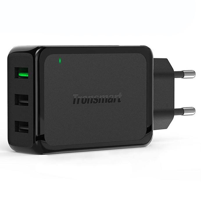 ... Tronsmart USB Charger 3 Port QC 3.0 - W3PTA - Black - 1 ...