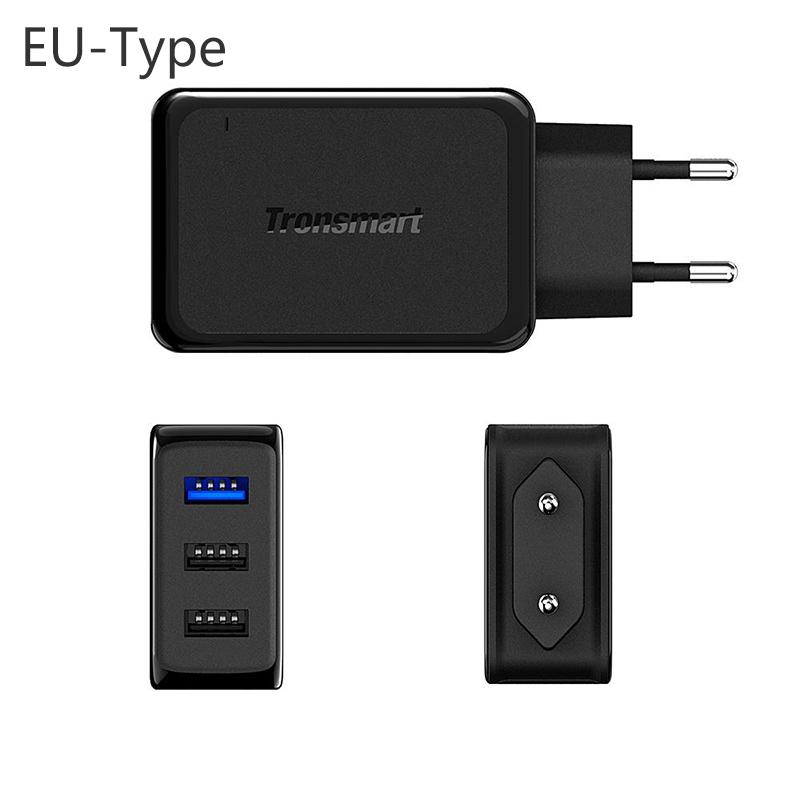 ... Tronsmart USB Charger 3 Port QC 3.0 - W3PTA - Black - 3 ...