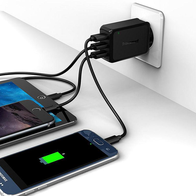 ... Tronsmart USB Charger 3 Port QC 3.0 - W3PTA - Black - 4 ...