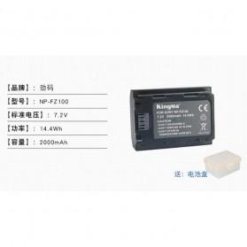 KingMa Charger Baterai Travel + 2 x Baterai for Sony A9 A7R III A7 III - NP-FZ100 - Black - 4