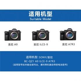 KingMa Charger Baterai Travel + 2 x Baterai for Sony A9 A7R III A7 III - NP-FZ100 - Black - 5
