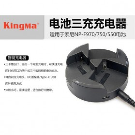 KingMa Charger Baterai Travel Sony NP-F970 NP-F750 NP-F550 - BM045 - Black