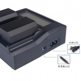 KingMa Charger Baterai 2 Slot for Sony A9 A7R III A7 III - NP-FZ100 - Black - 3