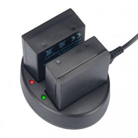 KingMa Charger Baterai Travel + 2 x Baterai for Olympus EM1 Mark II - BLH1 - Black - 2