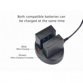 KingMa Charger Baterai Travel + 2 x Baterai for Olympus EM1 Mark II - BLH1 - Black - 9