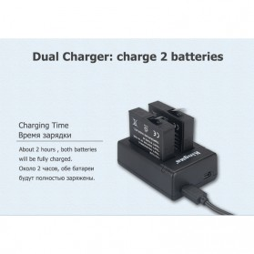 KingMa Charger Baterai Travel + 2 x Baterai for Xiaomi Mijia 4K - RLDC01FM - Black - 3