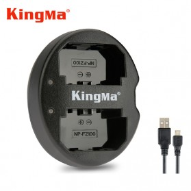 KingMa Charger Baterai Travel Sony A9 A7R III A7 III - NP-FZ100 - Black