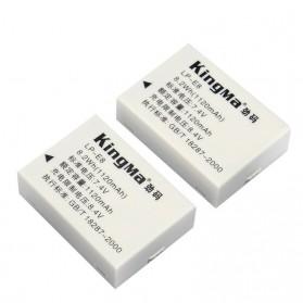 KingMa Dual Charger + 2 Baterai LP-E8 Canon T2i T3i EOS 550D 600D 650D - Black - 5