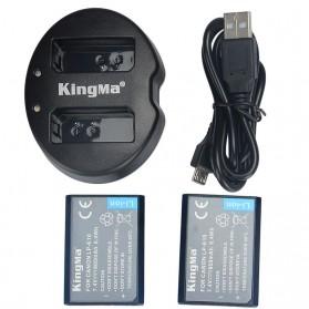 KingMa Dual Charger + 2 Baterai LP-E10 Canon EOS 1100D 1200D Kiss 50X Rebel T3 - Black - 4