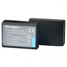 KingMa Dual Charger + 2 Baterai LP-E10 Canon EOS 1100D 1200D Kiss 50X Rebel T3 - Black - 5