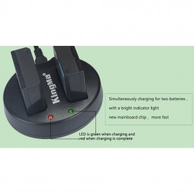 KingMa Dual Charger + 2 Baterai LP-E10 Canon EOS 1100D 1200D Kiss 50X Rebel T3 - Black - 7