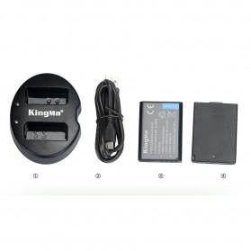 KingMa Dual Charger + 2 Baterai LP-E10 Canon EOS 1100D 1200D Kiss 50X Rebel T3 - Black - 8