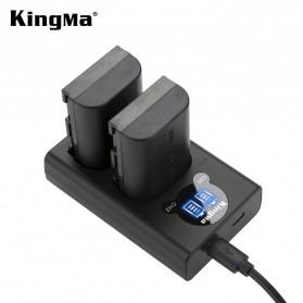KingMa Dual Charger BM048 + 2 Baterai LP-E6 Canon EOS 6D 5D 60D 70D 80D - Black - 1